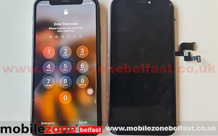 Iphone x lcd replaced